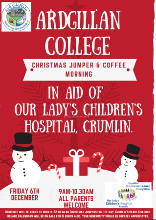 Parents are invited to our Christmas Jumper and Coffee Morning on Friday 6th December