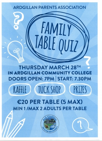 Parents Council Table Quiz
